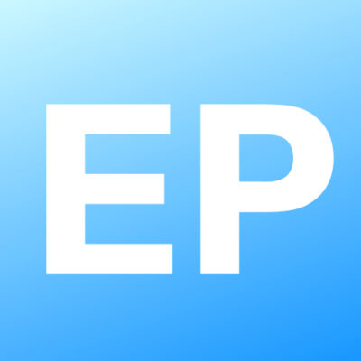 The letters E and P